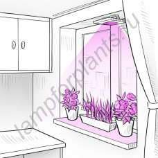"""Прожектор для растений биколорный """"Алюла"""" 30Вт"""